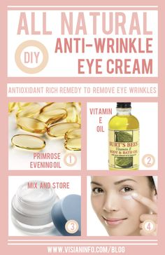 DIY Natural Homemade Eye Cream