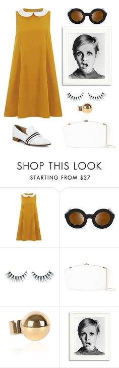 """Twiggy Style."" by schenonek ❤ liked on Polyvore featuring Wildfox, Rocio, Sonic Editions and rag & bone"