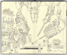 carnet croquis 14 720x588 Les carnets de croquis de Mattias Adolfsson