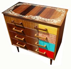 Retro Recycled Hand Printed Margate Drawers by Zoe Murphy, via Flickr