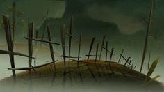 Fantasma by Juan Francisco Cancelleri, Animation Background, Art Background, Forest Illustration, Digital Painting Tutorials, Graphic Artwork, Matte Painting, Visual Development, Vector Illustrations, Negative Space
