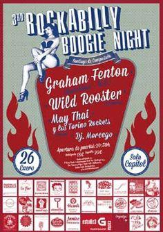 Este fin de semana llega el tercer Festival Rock-A-Billy Boogie Night a la Sala Capitol de Santiago de Compostela.