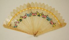 Fan Date: 1830–60 Culture: French Medium: silk, tortoiseshell