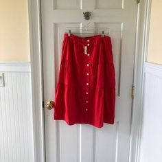 Red skirt on Poshmark Red Skirts, Ootd, Style, Fashion, Swag, Moda, Fashion Styles, Fasion