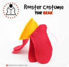 Rooster Costume: The Beak - Tutorial.