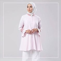 Monica Top Pink . Now available at www.hijup.com . You can also reach our admin contact at:  line@ : @eclemix  WA : 081326004010 . Happy shopping  . #hijup #myhijup  #eclemix #myeclemix  #fashion #hijab #top #tunik #localbrand #bandung