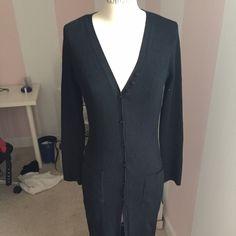 Black long sweater coat. Moda International medium Lightly worn Moda International Sweaters