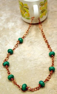 Traditional copper necklace via Cloud 9 Gallery. Click on the image to see more!