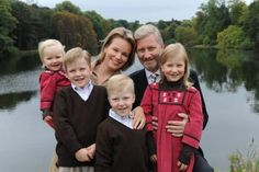 Crown Prince Phillipe, Crown Princess Mathilde of Belgium with their children, Princes Gabriel and Emmanuel and Princesses Elisabeth and Eleonore