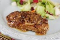 apple butter pork chops. Looks goooood!