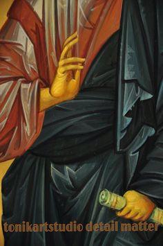 Icon of Christ Byz-art by Anda Tzara on Tonikartstudio Sacred Art, Christ, Studio, Movies, Movie Posters, Icons, Films, Film Poster, Studios