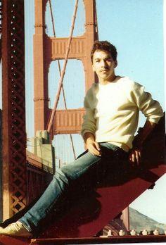 Larry on Golden Gate Bridge in 1985