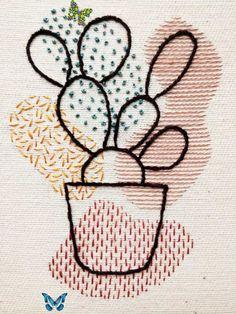 Cactus Embroidery PDF Pattern | Digital Tutorial | Hand Embroidery Guide | Prickly Pear | Saguaro| DIY Embroidery Hoop Cactus Embroidery PDF Pattern Digital Tutorial Hand | Etsy платье мода как сшить платье своими руками платье без в<br> Hand Embroidery Patterns Flowers, Cactus Embroidery, Embroidery Stitches Tutorial, Simple Embroidery, Embroidery Hoop Art, Hand Embroidery Designs, Embroidery Ideas, Beginner Embroidery, T-shirt Broderie