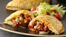 Grands!® Taco Melts  I make these a few times a year.  Everyone loves them.  I add black beans to mine (meat goes farther and adds a bit of healthy yumminess)
