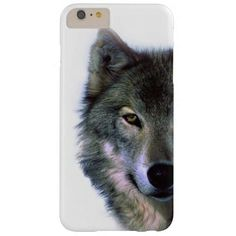 Grey Wolf Eyes Barely There iPhone 6 Plus Case