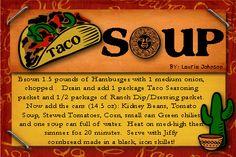 Taco fall soup