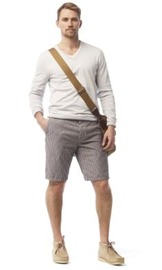 {mason striped short. club monaco. streamlined and modern casual summer look}