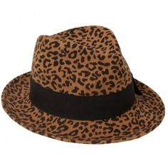 Leopard print fedora! This is an exciting find.