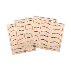 5 PCS Professional Cosmetic Permanent Makeup Eyebrow Tattoo Practice Skin Supply fake eyebrow practice skin for microblading. Yesterday's price: US $7.04 (5.72 EUR). Today's price: US $7.04 (5.74 EUR). Discount: 43%.