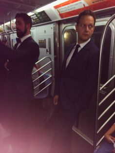 Josh Charles on the subway