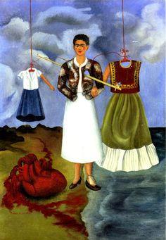 Cuadro pintado por Frida. Memory (The Heart)~Frida Kahlo