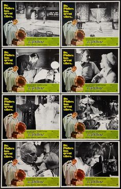 """""""The Abominable Dr Phibes"""" Lobby Cards (1971)"""