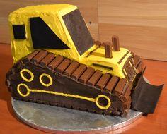 Front Loader on Cake Central Zoo Birthday Cake, Birthday Celebration, Third Birthday, Birthday Ideas, Construction Birthday Parties, Construction Party, Bulldozer Cake, Truck Cakes, Gateaux Cake