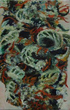 Original small picture,oil painting, art, present, gift,flower, marijuana, smoke #Impressionism