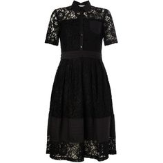 Marella Lace Panel Dress, Black ($305) ❤ liked on Polyvore featuring dresses, midi cocktail dress, cocktail party dress, maxi cocktail dress, evening dresses and lace maxi dress