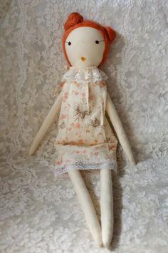 Handmade Rag Dolls by Gaiia Kim, One-of-a-Kind Cloth Doll,  No 82 via Etsy