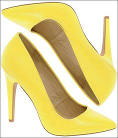 Lookey what I just ordered ;) Banana-colored heels!
