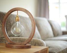 Desk Lamp DL017 | Etsy Wooden Shoe Racks, Wooden Table Lamps, Fractions, Handmade Wooden, Desk Lamp, Wall Lights, Bulb, Etsy, Home Decor