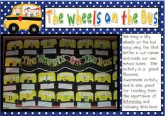 Day of School Activities for kindergarten and first grade. Such a fun celebration! See how we celebrate with math centers, reading, writing, and a fun craft! Beginning Of The School Year, New School Year, First Day Of School, Pre School, Back To School, School Stuff, School Info, Bus Crafts, Name Activities