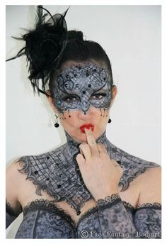 Facepaint & Bodypainting  50 shades of grey   Airbrushed & handpainted   Artist: Merel Wismeijer Model: Rudi  Photo copyright: Face Fantasy BodyArt  Facefantasy.nl  Amersfoort  The Netherlands