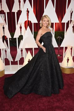 Kelly Ripa in Christian Siriano