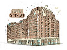 this dude is drawing all the buildings in NYC (http://allthebuildingsinnewyork.blogspot.com/)