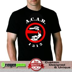 All Cops Football Fans Tshirt Ultras Police are bastards hools hooligans #FingerPrint #GraphicTee