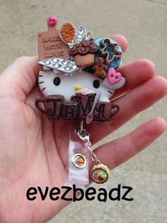 Java Break Hello Kitty Id Badge Retractable Reel Holder | evezbeadz.ArtFire.com, USA gets FREE SHIP, everyone gets 10% OFF w/ Coupon, see Listing
