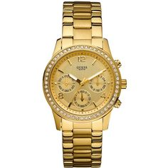 Guess Women S U0321l3 Rose Gold Tone Id Bracelet Watch With Self Adjule Don T Get Left Behind See This Great Product Watches For