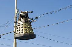 Free image of Blackpool illuminations Dalek, Blackpool, Bird Feeders, Free Stock Photos, Free Images, Rocks, British, Sofa, Holidays