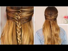 I hope you guys love this braided half up Half down style! Tell me below where you would wear this fun and easy hairstyle! Plaits Hairstyles, Teen Hairstyles, Short Hairstyles For Women, Pretty Hairstyles, Braid Half Up Half Down, Braided Half Up, Medium Hair Styles, Short Hair Styles, Hair Medium