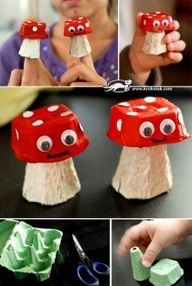 22 AMAZING Egg Carton Crafts - How Wee Learn - - Over 20 amazing egg carton crafts for kids! If you need egg carton craft ideas for any occasion and any age - this post is for you. Kids Crafts, Summer Crafts, Crafts To Do, Fall Crafts, Projects For Kids, Diy For Kids, Craft Projects, Arts And Crafts, Craft Ideas