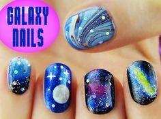 Galaxy Nails by Sara Beauty Corner