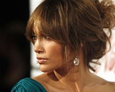 Pictures : Best Jennifer Lopez Hairstyles with Bangs - Jennifer Lopez Bangs Updo