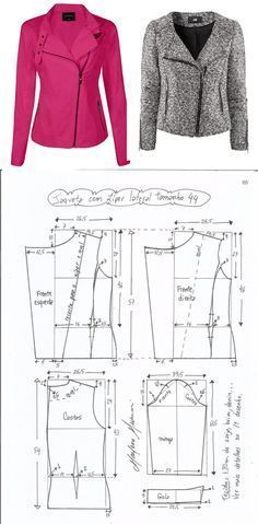 Amazing Sewing Patterns Clone Your Clothes Ideas. Enchanting Sewing Patterns Clone Your Clothes Ideas. Coat Patterns, Dress Sewing Patterns, Clothing Patterns, Vogue Patterns, Blazer Pattern, Jacket Pattern, Diy Clothing, Sewing Clothes, Coats For Women