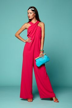 A coral jumpsuit fit for a disco queen #TrinaTurkSpring2015
