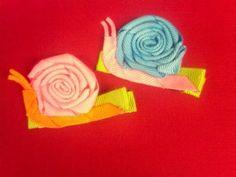 Silly snails ribbon sculpture hair clip