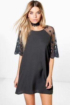 Karina Lace Sleeve Shift Dress