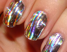 Nail Art 101 Reviews: Silver Spectrum Nail Foils from dollarnailart.com - Review