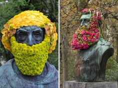 Here's a little something for for fans of beards, fans of flowers, and fans of finding random things in the street.